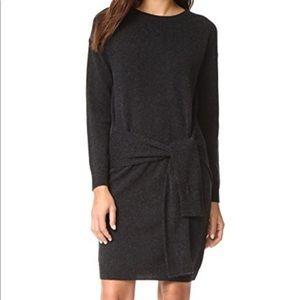 Long sleeve tie waist sweater dress